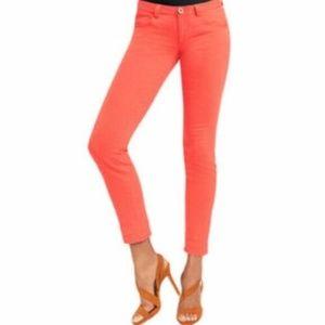 Cabi 10 Coral Skinny Ankle Jeans Jeggings Raw Hem
